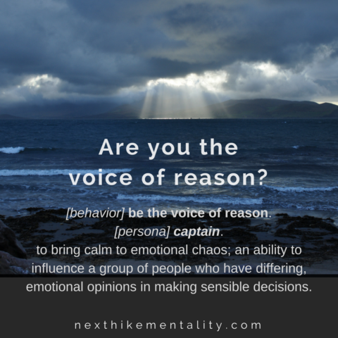 Are you the voice of reason?